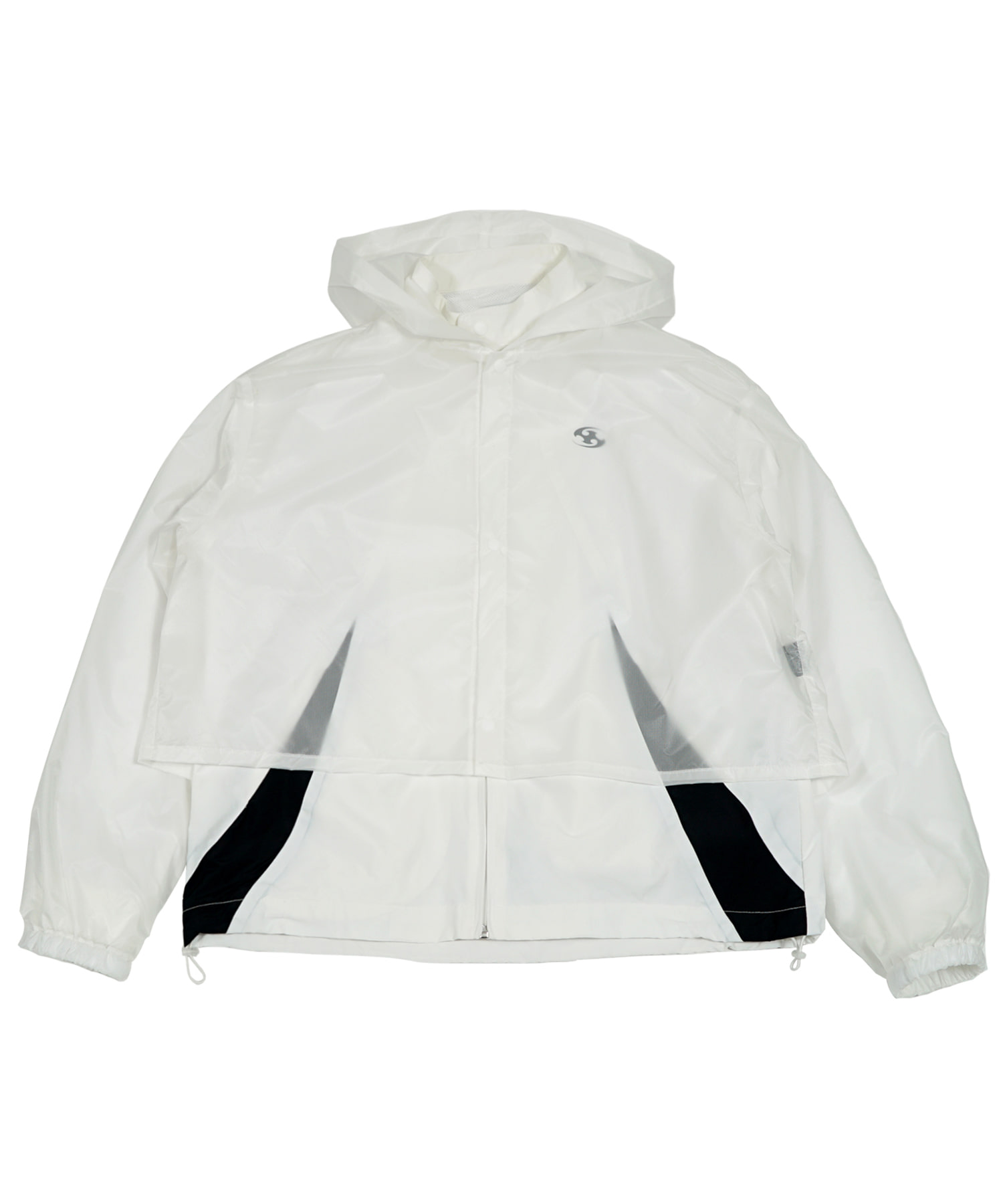 TRACK JACKET w/ RAIN COVER WHITE