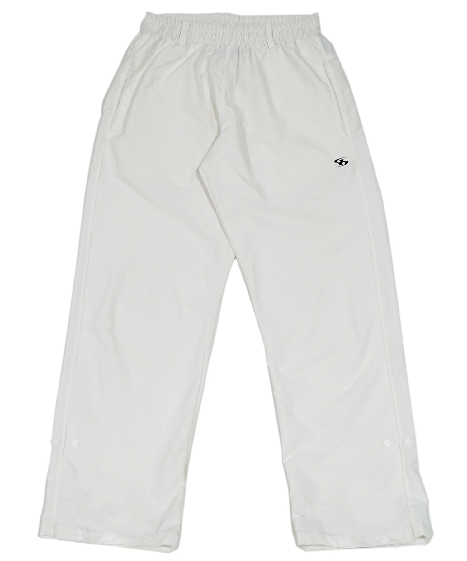 SIDE SNAP PANTS WHITE