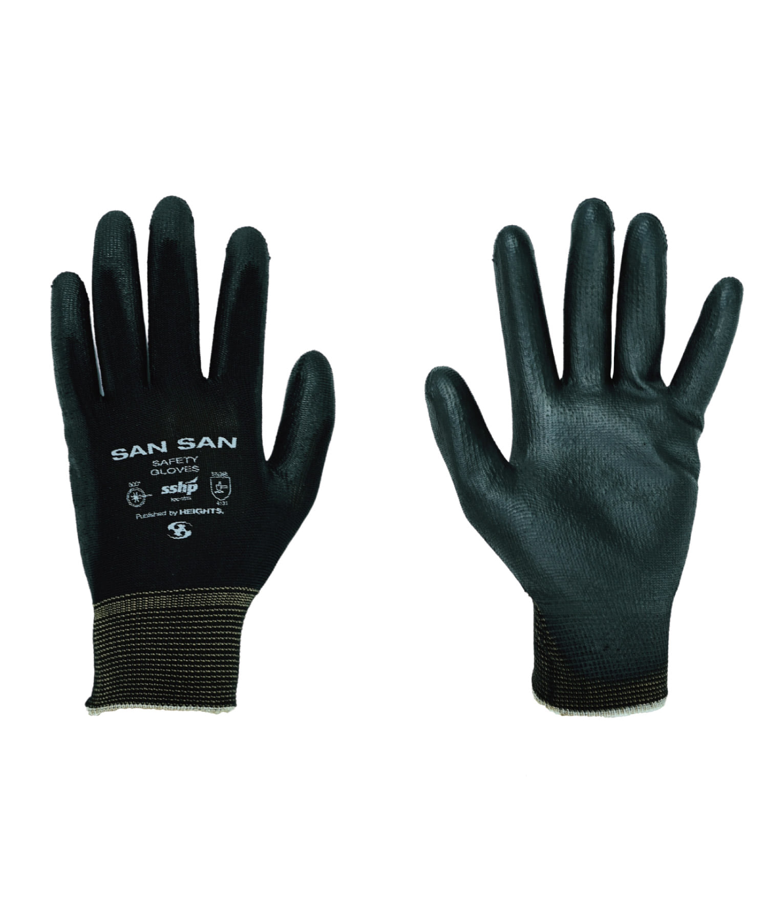 SAFETY GLOVES BLACK (2 SET IN 1 PACK)
